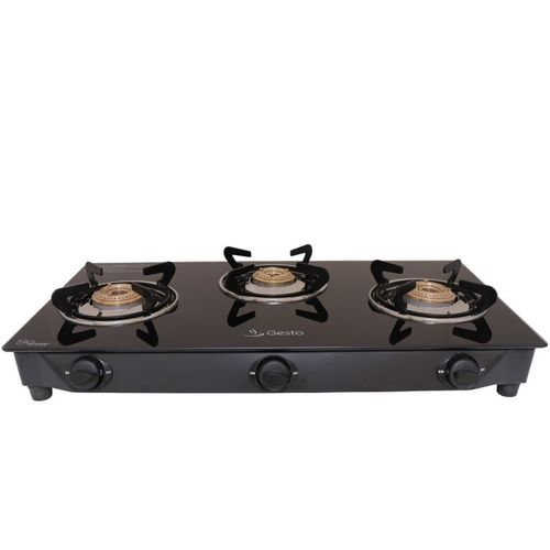 Gesto Vista 3 Burner Stainless Steel Manual Gas Stove(3 Burners)