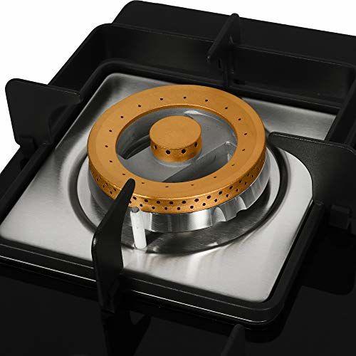 Faber Hob Hybrid Glass 4 Burner Cooktop, Black (106.0493.743)
