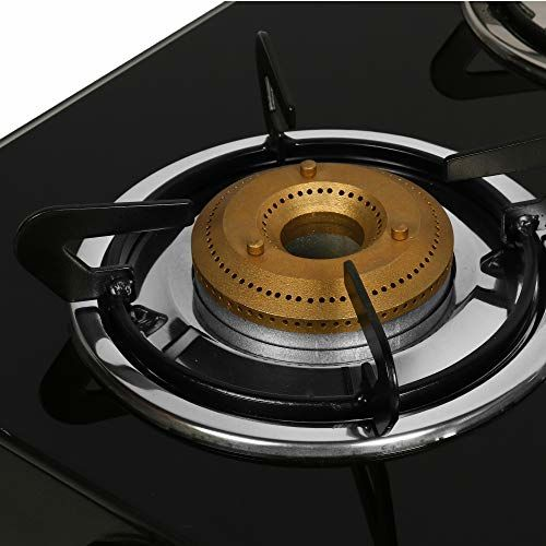 Faber Gas Stove 4 Burner Glass Cooktop (Jumbo 4BB BK) Manual Ignition , Black
