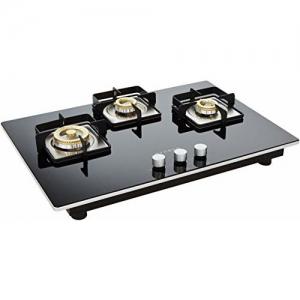Faber Hob Hybrid Glass 3 Burner Cooktop, Black (106.0493.744)