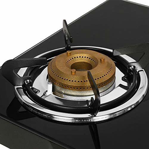 Faber Gas Stove 3 Burner Glass Cooktop (Jumbo 3BB BK)Auto Ignition , Black