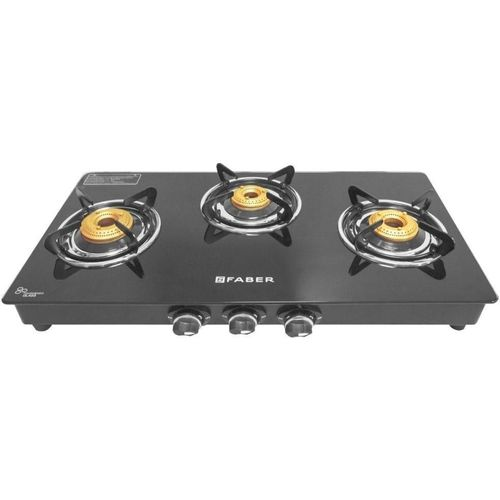Faber Cooktop Splendor 3BB BK Stainless Steel Manual Gas Stove(3 Burners)