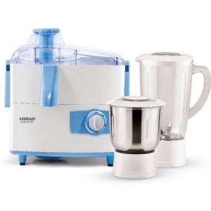 Eveready Present High efficiency Juicer mixture grinder Dynamo DX 450 Juicer Mixer Grinder(White, 2 Jars)
