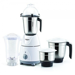 Eveready Novus 750 Watt Mixer Grinder with 4 Jars (White)