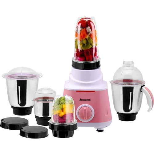 Anjalimix Watts Smoothie Maker cum Mixer Grinder with 5 Jars 600 Juicer Mixer Grinder(Pink, 5 Jars)