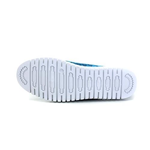 Sparx Blue & White Slip On Women's Sneakers
