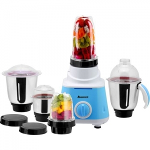 Anjalimix Smoothie Maker cum Mixer Grinder with 5 Jars 600 Juicer Mixer Grinder(Blue, 5 Jars)