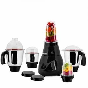 Anjalimix Avion (Black)1000 Watts Smoothie Maker + Mixer Grinder with 5 Jars