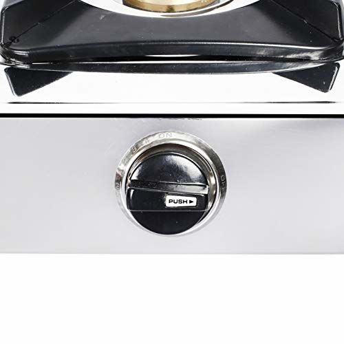 Lifelong 2 Burner Stainless Steel Gas Stove, Silver