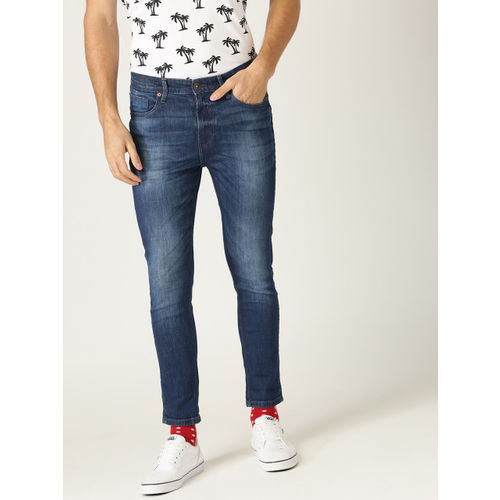 United Colors of Benetton Men Blue Regular Fit Mid-Rise Clean Look Stretchable Jeans