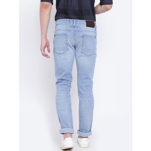 United Colors of Benetton Men Blue Skinny Fit Mid-Rise Clean Look Stretchable Jeans