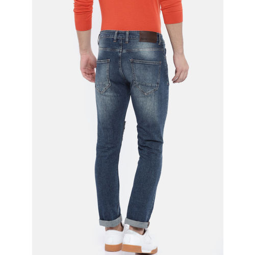 United Colors of Benetton Men Blue Slim Fit Mid-Rise Mildly Distressed Stretchable Jeans