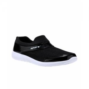 Sparx Black & White PU Mesh Women's Shoes