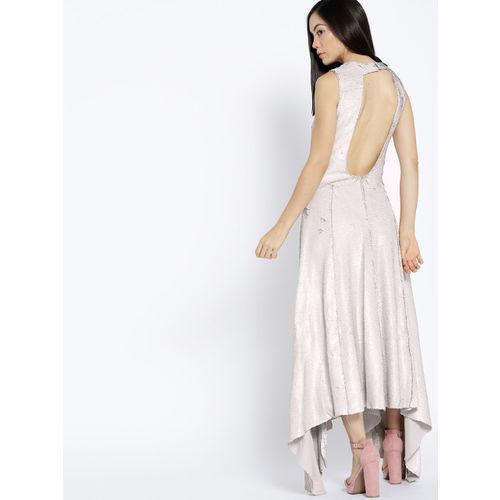 MANGO Women Grey Sequinned Maxi Dress