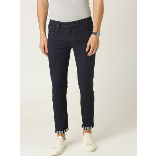 United Colors of Benetton Men Navy Blue Slim Tapered Fit Mid-Rise Clean Look Jeans