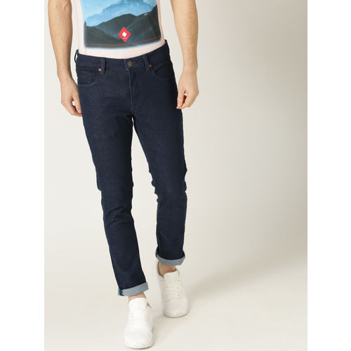 United Colors of Benetton Men Navy Blue Skinny Fit Mid-Rise Clean Look Stretchable Jeans