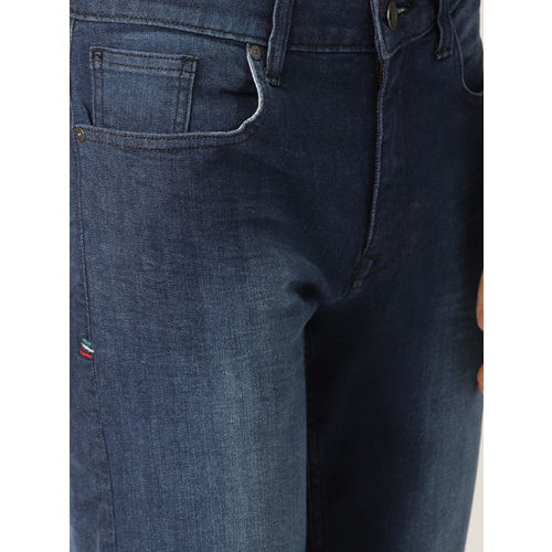 United Colors of Benetton Men Navy Skinny Fit Mid-Rise Clean Look Stretchable Jeans