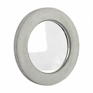 Casa Décor Casa Dcor Ginas Circle Concrete Mirror Decorative Glass for Wall Mirror Home Dcor Mirror