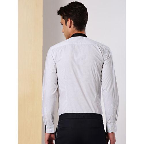 INVICTUS Men White Slim Fit Printed Formal Shirt