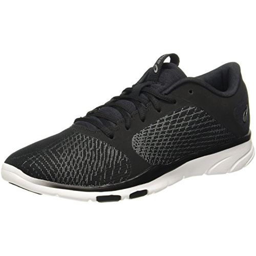 ASICS Women's Gel-Fit Tempo 3 Black/White/Silver Multisport Training Shoes-6 UK/India (39.5 EU)(8 US) (S752N.9001)