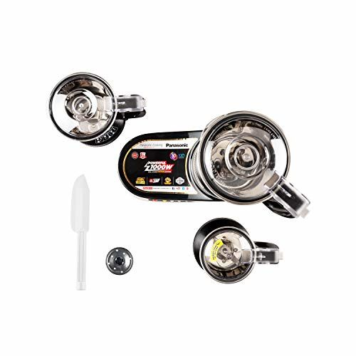 Panasonic MX-AC380 Vergin Plastic Hazards Free Double Safety Locking Mixer Ginder, Three Jar, Black