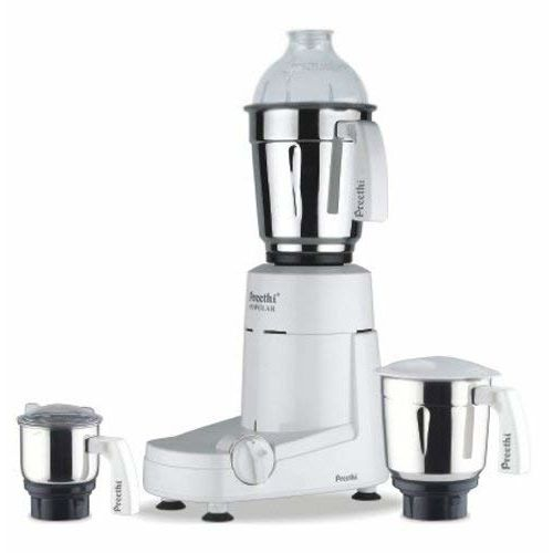 (Certified REFURBISHED) Preethi Popular MG 142 750-Watt Mixer Grinder with 3 Jars (White)