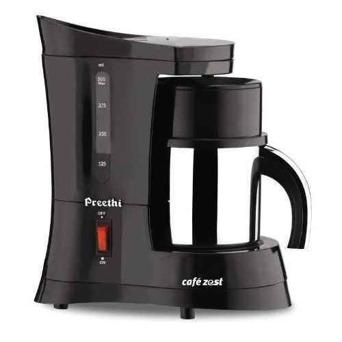 Preethi Cafe Zest CM210 Drip Coffee Maker (Black)