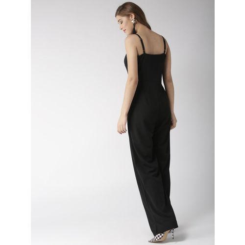 20Dresses Women Black Solid Basic Jumpsuit