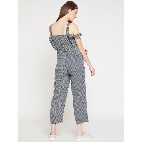 RARE Black & White Checked Culotte Jumpsuit