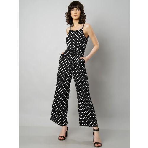 FabAlley Black Printed Basic Jumpsuit