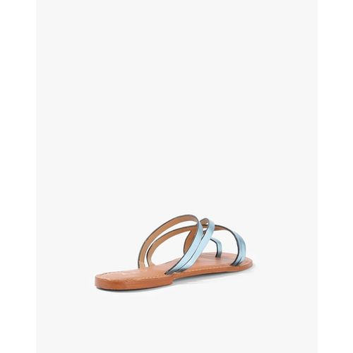 AJIO Textured Strappy Toe-Ring Flats