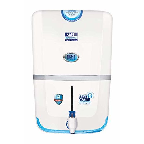 Kent Prime 11028 RO+ UV+ UF+ TDS Cont, 9 Ltr. RO Water Purifier (White)