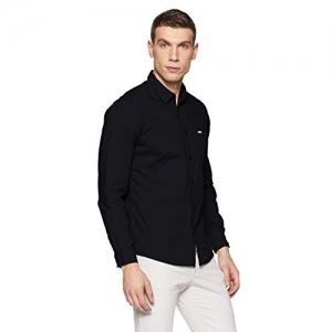 Pepe Jeans Men's Casual Shirt (8907557304822_PIMW200001_Black_X-Large)