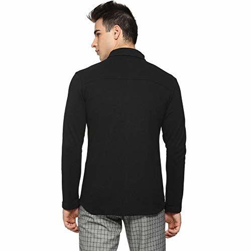 Campus Sutra Men Casual Shirts(AZ19SHRT_NCKBLK_M_PLN_BLWH_AZ_S)