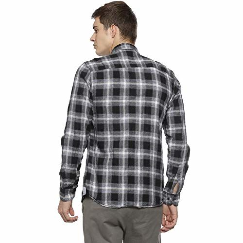 Campus Sutra Men Checkered Casual Shirt(AZ19SHRT_PNCHK20_M_PLN_BLWH_AZ_M)