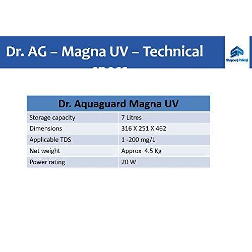Eureka Forbes Dr. Aquaguard Magna HD UV+ Mineralizer 7 Ltr. UV Water Purifier