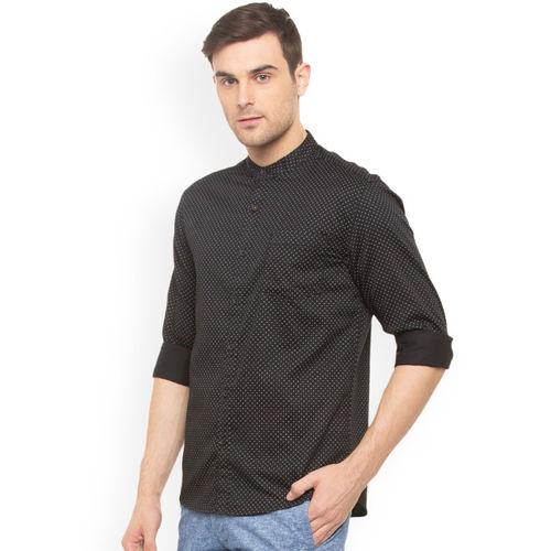 People Men's Printed Regular fit Casual Shirt