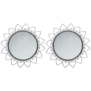 Hosley Set of 2 Round Decorative Wall Mirrors