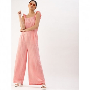 DressBerry Pink Solid Basic  Jumpsuit