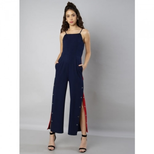 FabAlley Women Blue Solid Basic Jumpsuit