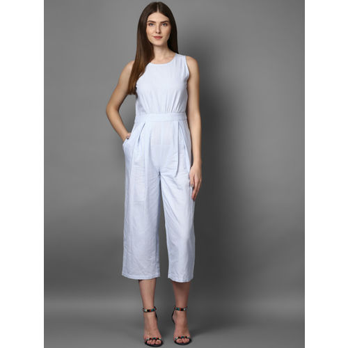 STREET 9 Women Blue Striped Culotte Jumpsuit