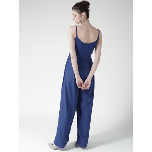 20Dresses Blue Solid Basic Jumpsuit