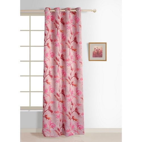 Swayam 228 cm (7 ft) Polyester Door Curtain Single Curtain(Floral, Pink)