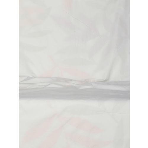 SWAYAM White & Yellow Single Printed Room Darkening Window Curtain