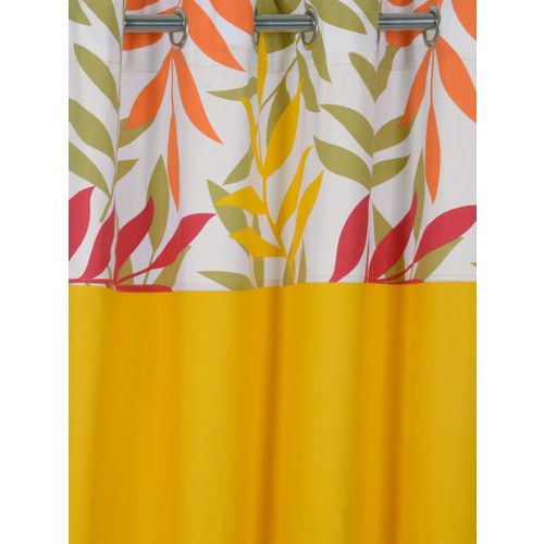 SWAYAM Mustard Solid Black Out Door Curtains