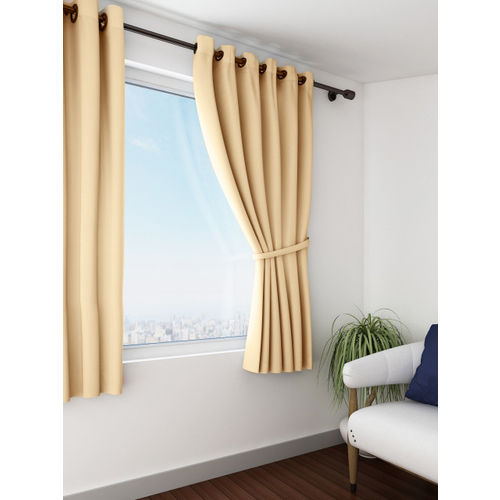 SWAYAM Beige Single Blackout Window Curtain