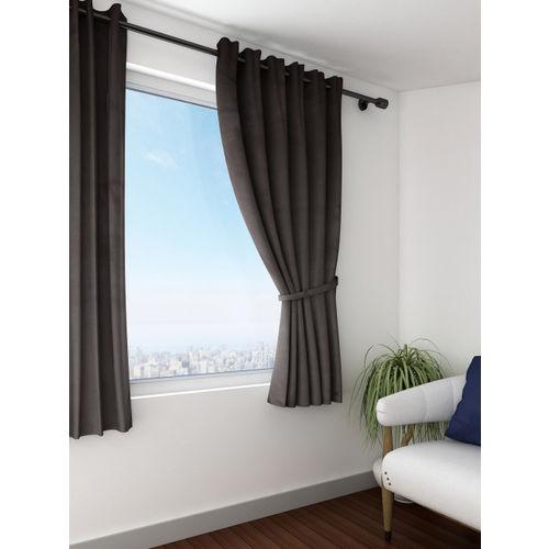 Swayam Brown Single Blackout Window Curtain