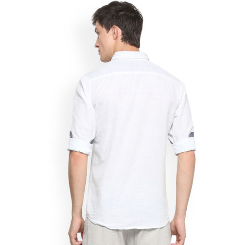 People White Regular Fit Solid Casual Shirt