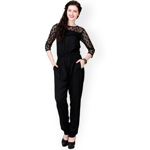 16 Always  Black Polyester Jumpsuit