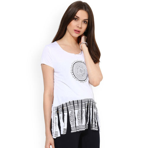 Sangria Women White Printed Top